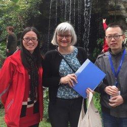 Cathie, Qing and Jingjing Xu, Chenshan Botanical Garden, 2016