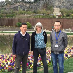Cathie and Qing with the Director of Chenshan Botanical Garden,Yonghong Hu, 2016