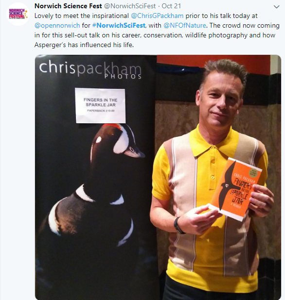 Chris Packham was a big hit