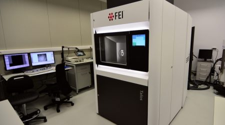 A fully installed cryo-EM FEI Talos F200C microscope