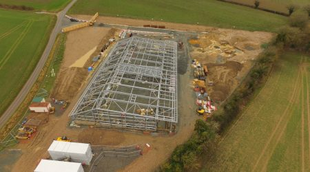 Church Farm Aerial in Construction