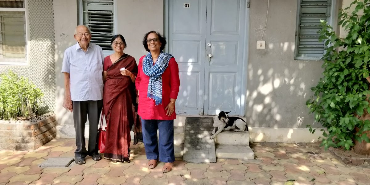 Girija and Viru Viraraghavan with Dr Vinita Damodaran in Pondicherry