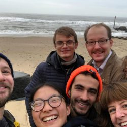 Members of the Seung Lab at Horsey beach to see the seals -2019